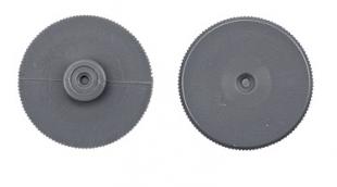 Náhradní díl do pákové děrovačky DELI E0150 - plastový dorazový disk, šedý, 10 ks
