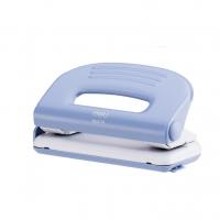 Děrovačka Deli E0118 - 10 listů, kovová, modro-bílá