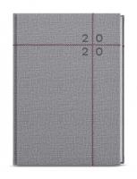 Denní diář David-fabric - A5, šedá