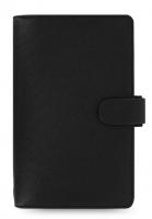 Osobní compact diář Filofax Saffiano - 185x115x25 mm, černý