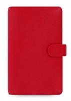 Osobní compact diář Filofax Saffiano - 185x115x25 mm, červený