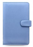 Osobní compact diář Filofax Saffiano - 185x115x25 mm, modrý