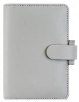 Mini diář Filofax Saffiano - 123x95x25 mm, šedý