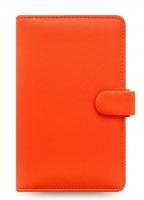 Osobní compact diář Filofax Saffiano - 185x115x25 mm, oranžový