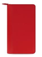 Osobní compact diář Filofax Saffiano Zip - 208x125x31 mm, červený