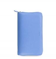 Osobní compact diář Filofax Saffiano Zip - 208x125x31 mm, modrý
