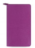 Osobní compact diář Filofax Saffiano Zip - 208x125x31 mm, malinový