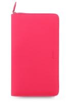 Osobní compact diář Filofax Saffiano Fluoro - 185x115x25 mm, růžový