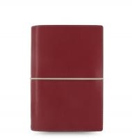 Osobní diář Filofax Domino - 190x133x35 mm, červený