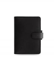 Mini diář Filofax Saffiano - 123x95x25 mm, černý