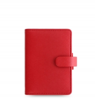 Mini diář Filofax Saffiano - 123x95x25 mm, červený