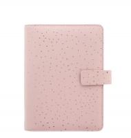 Osobní diář Filofax Confetti - 190x151x43 mm, rose quartz