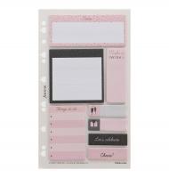 Náplň do diáře Filofax Confetti - osobní, lepicí bločky, 8x25 listů