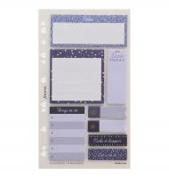 Náplň do diáře Filofax Indigo - osobní, lepicí bločky, 8x25 listů