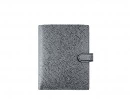 Mini diář Filofax Finsbury - 123x106x31 mm, šedý