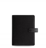 Mini diář Filofax Finsbury - 123x106x31 mm, černý
