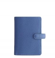 Mini diář Filofax Finsbury - 123x106x31 mm, modrý