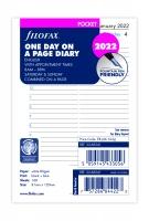 Náplň do diáře Filofax - kapesní, denní kalendář AJ