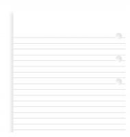 Náplň do diáře Filofax - osobní, poznámkový papír, linkovaný, 30 listů