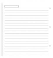 Náplň do diáře Filofax - A5, poznámkový papír, linkovaný, 25 listů