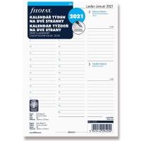 Náplň do diáře Filofax - A5, týdenní kalendář CZ/SK