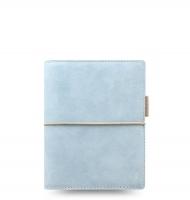 Kapesní diář Filofax Domino Soft - 145x117x34 mm, pastelově modrý