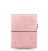 Kapesní diář Filofax Domino Soft - 145x117x34 mm, pastelově růžový