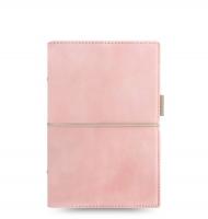 Osobní diář Filofax Domino Soft - 190x133x35 mm, pastelově růžový