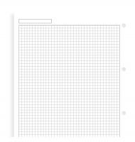 Náplň do diáře Filofax - A4, poznámkový papír, čtverečkovaný, 20 listů