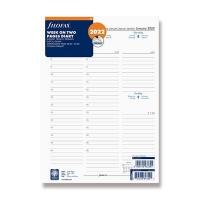 Náplň do diáře Filofax - A4, týdenní kalendář 5 jazyků