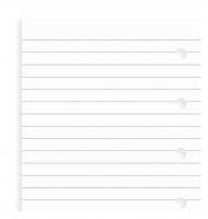 Náplň do diáře Filofax - mini, poznámkový papír, linkovaný, 20 listů