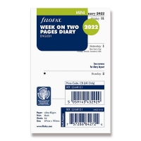 Náplň do diáře Filofax - mini, týdenní kalendář AJ