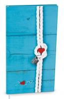 Denní diář Filip-lamino - kapesní, modrý, uzel