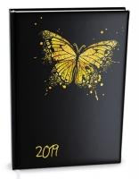 Denní diář Adam-lamino - B6, motýl