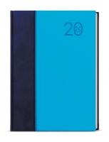 Denní diář David-kombi - A5, modrý/modrý