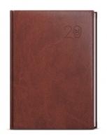 Denní diář David-vivella - A5, hnědý