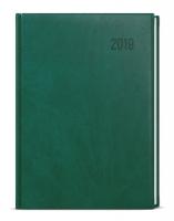 Denní diář David-vivella plus - A5, tmavě zelený