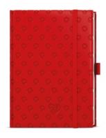 Týdenní diář Prokop-vivella Extra - B6, červený, Srdce