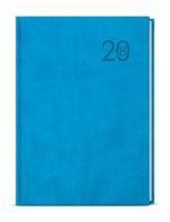 Týdenní diář Oskar-vivella plus - A5, světle modrý