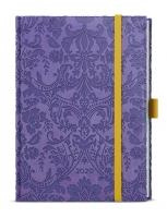 Denní diář Adam-vivella extra - B6, fialový, ornamenty
