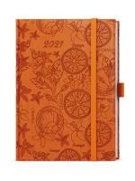 Denní diář Adam-vivella extra - B6, oranžový, pomeranč