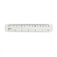 Plastové pravítko Deli - 15 cm, transparentní