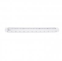 Plastové pravítko Deli Pioneer EG00312 - 30 cm, transparentní