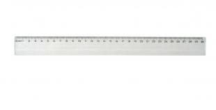 Plastové pravítko - 30 cm, transparentní