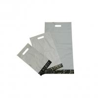 Poštovní plastová taška LDPE - s průhmatem, 200x270+80 mm, klopa 40 mm, třívrstvá, 50 my, 100 ks