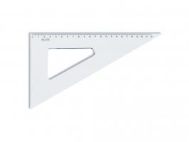 Plastové pravítko trojúhelník Koh-I-Noor - 22 cm, transparentní