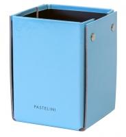 Kalíšek na tužky Pastelini - 10,5x8x7,5 cm, lamino, modrý