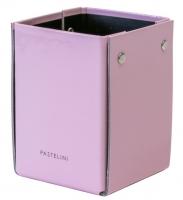Kalíšek na tužky Pastelini - 10,5x8x7,5 cm, lamino, růžový