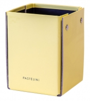 Kalíšek na tužky Pastelini - 10,5x8x7,5 cm, lamino, žlutý