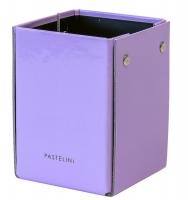 Kalíšek na tužky Pastelini - 10,5x8x7,5 cm, lamino, fialový
